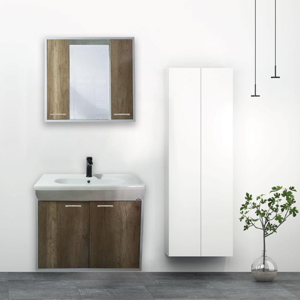 80 Cm Adonis Rönesans Meşe Banyo Dolabı Seti