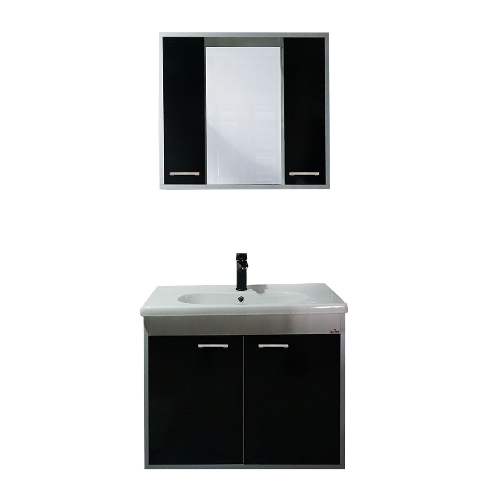 80 Cm Adonis Siyah Banyo Dolabı Seti