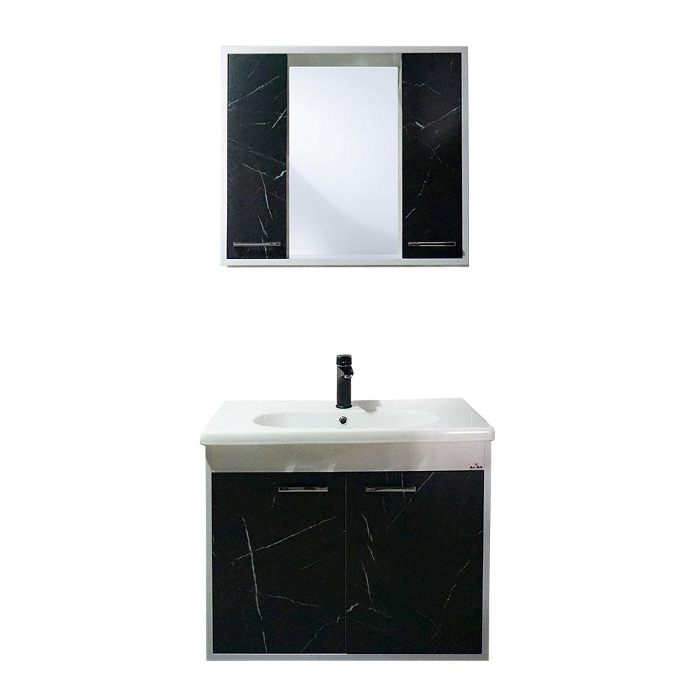 80 Cm Adonis Royal Mermer Banyo Dolabı Seti