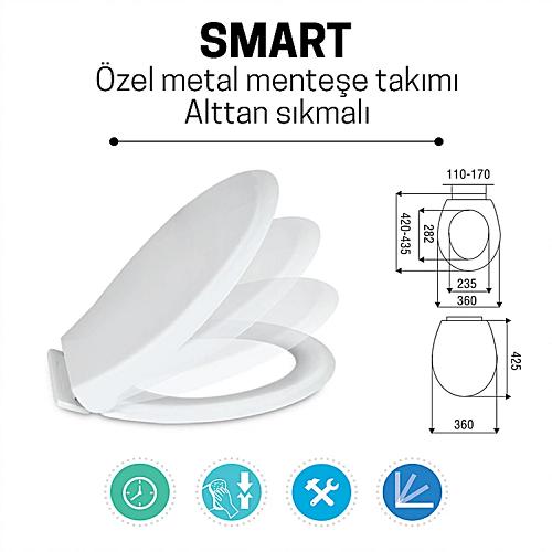 Smart Amortisörlü Soft Close Klozet Kapağı / NKP